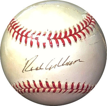 Richie Ashburn signed RONL Rawlings Official National League Baseball- JSA Hologram #EE41744 (Philadelphia Phillies) PSM-Powers Sports Memorabilia