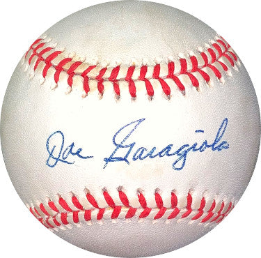 Joe Garagiola signed RONL Rawlings Official National League Baseball minor tone spots- JSA Holo #EE41673 (St. Louis Cardinals) PSM-Powers Sports Memorabilia