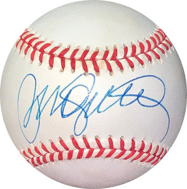 Ryne Sandberg signed RONL Rawlings Official National League Baseball minor tone spots- JSA Hologram #EE41692 (Chicago Cubs) PSM-Powers Sports Memorabilia