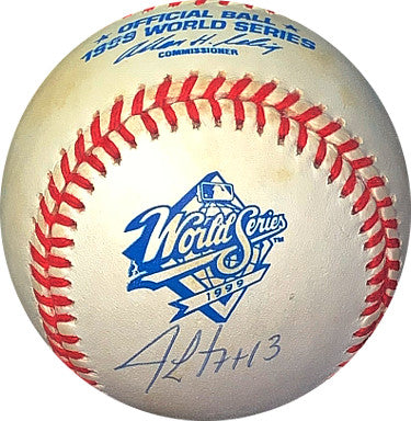 Jim Leyritz signed Rawlings Official 1999 World Series Logo Baseball #13- JSA Hologram #EE41815 (San Diego Padres) PSM-Powers Sports Memorabilia