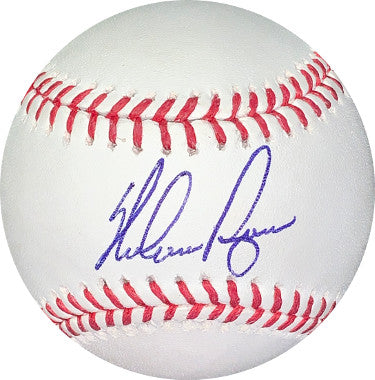 Nolan Ryan signed Rawlings Official Major League Baseball- Ryan & JSA Hologram #V38189 (Texas Rangers/New York Mets) PSM-Powers Sports Memorabilia