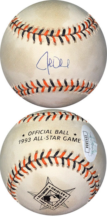 John Olerud signed Rawlings Official 1993 All-Star Game Logo Baseball minor tone spots- JSA Holo #EE41804 (Toronto Blue Jays ) PSM-Powers Sports Memorabilia