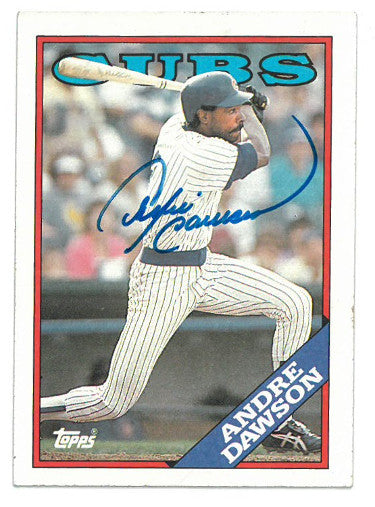 Andre Dawson signed Chicago Cubs 1988 Topps Baseball Card #500- JSA Hologram #DD64769 PSM-Powers Sports Memorabilia