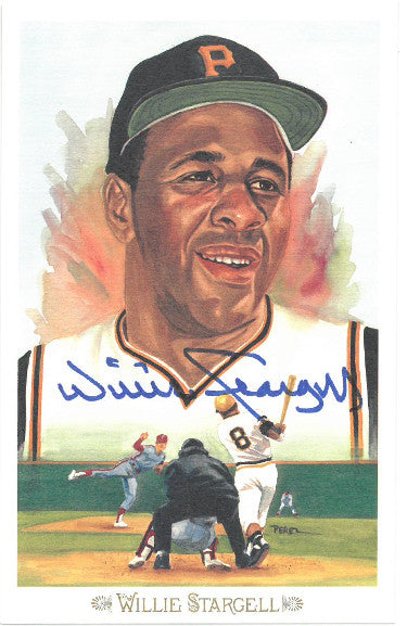 Willie Stargell signed 1989 Pittsburgh Pirates Perez-Steele Celebration Postcard (photo) #40- JSA Hologram #DD64324 PSM-Powers Sports Memorabilia