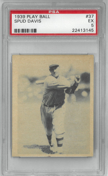 Spud Davis Philadelphia Phillies 1939 Play Ball Baseball Card #37- PSA Graded 5 Excellent PSM-Powers Sports Memorabilia