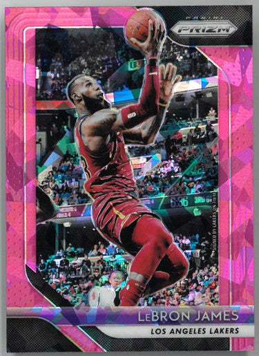 Lebron James Cleveland Cavaliers 2018-19 Panini Prizm Pink Ice Basketball Card #6 PSM-Powers Sports Memorabilia
