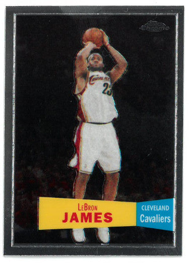 Lebron James Cleveland Cavaliers 2008-09 Topps Chrome Basketball Card #23 PSM-Powers Sports Memorabilia