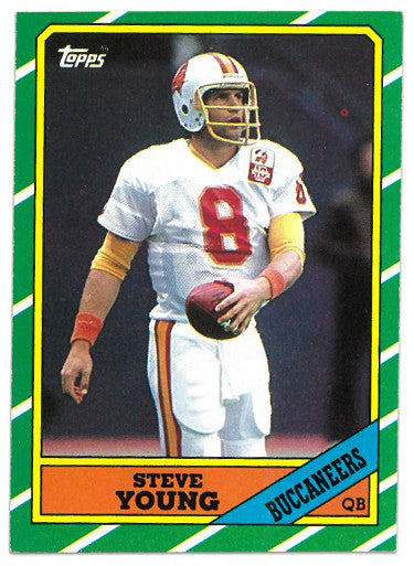 Steve Young Tampa Bay Buccaneers 1986 Topps Football Rookie Card (RC) #374 PSM
