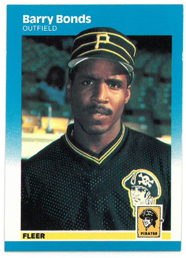 Barry Bonds Pittsburgh Pirates 1987 Fleer Baseball Rookie Card (RC) #604 PSM