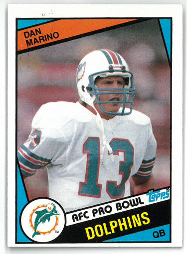 Dan Marino Miami Dolphins 1984 Topps Football Rookie Card (RC) #123 PSM