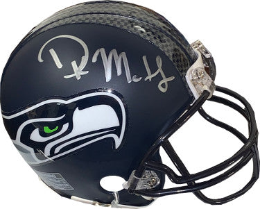 DK (D.K.) Metcalf signed Seattle Seahawks Riddell Navy Matte Mini Helmet- JSA Witnessed Hologram PSM-Powers Sports Memorabilia