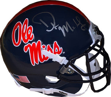 DK (D.K.) Metcalf signed Ole Miss Rebels Navy Schutt Authentic Mini Helmet- JSA Witnessed Hologram PSM-Powers Sports Memorabilia