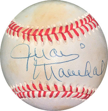 Juan Marichal signed RONL Rawlings Official National League Baseball minor tone spots- JSA Holo #EE41653 (San Francisco Giants) PSM-Powers Sports Memorabilia
