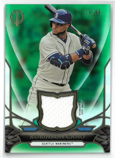 Robinson Cano Seattle Mariners 2016 Topps Tribute Game Used Relic Card #TD-RCA- LTD 23/99 PSM-Powers Sports Memorabilia