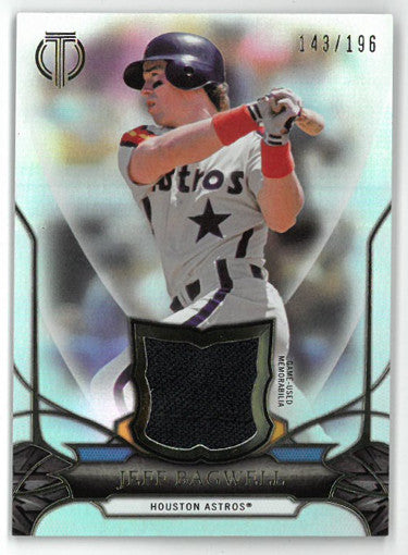 Jeff Bagwell Houston Astros 2016 Topps Tribute Game Used Relic Card #TR-JB- LTD 143/196 PSM-Powers Sports Memorabilia