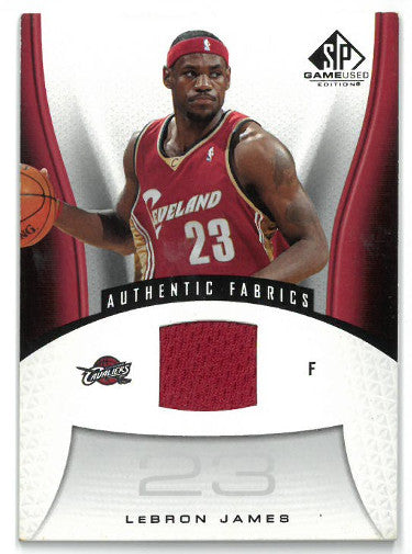Lebron James Cleveland Cavaliers 2006-07 Upper Deck SP Game Used Jersey Card #116 PSM-Powers Sports Memorabilia