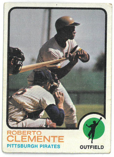 Roberto Clemente Pittsburgh Pirates 1973 Topps Baseball Card #50 corner wear PSM-Powers Sports Memorabilia
