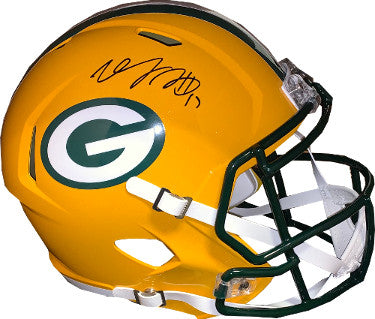 Davante Adams signed Green Bay Packers Riddell FS Speed Rep Helmet #17- JSA Witnessed Hologram PSM-Powers Sports Memorabilia