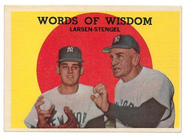 Don Larsen/Casey Stengel New York Yankees 1959 Topps Words of Wisdom Baseball Card #383 PSM-Powers Sports Memorabilia
