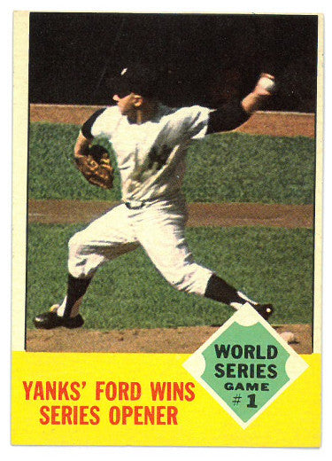 Whitey Ford New York Yankees 1963 Topps 1962 World Series Game #1 Baseball Card #142 PSM
