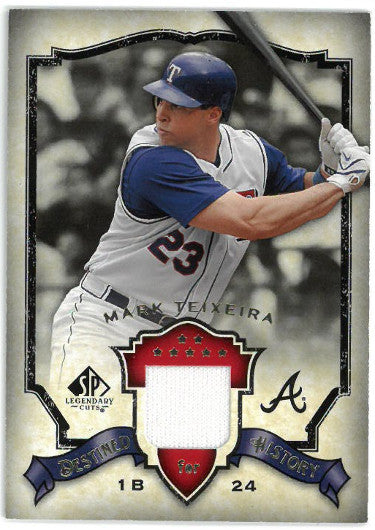 Mark Teixeira Texas Rangers 2008 UD SP Legendary Cuts Game Used Jersey Relic Card- #DH-MT PSM-Powers Sports Memorabilia
