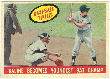 Al Kaline Detroit Tigers 1959 Topps Youngest Bat Champ Baseball Trading Card #463- Excellent/Mint PSM-Powers Sports Memorabilia
