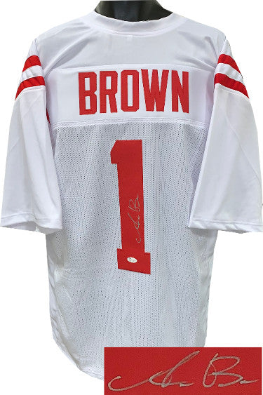 AJ (A.J.) Brown signed Ole Miss Rebels White Custom Stitched College Football Jersey XL- JSA Signature Debut Hologram #SD71273 PSM-Powers Sports Memorabilia