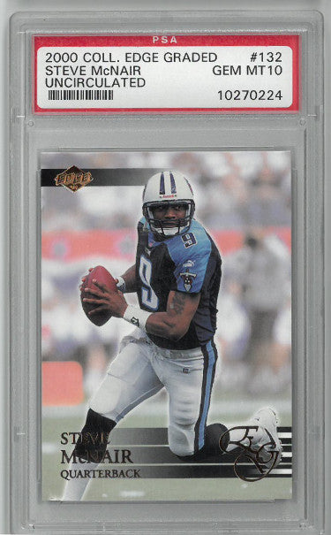 Steve McNair Tennessee Titans 2000 Collector's Edge Uncirculated Card #132- PSA Graded 10 Gem Mint PSM-Powers Sports Memorabilia