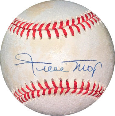 Willie Mays signed RONL Official National League Baseball minor tone- JSA LOA #Z98445 (NY/San Francisco Giants) PSM-Powers Sports Memorabilia