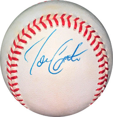Joe Carter signed ROAL Rawlings Official American League Baseball minor tone- JSA Hologram #EE62689 (Toronto Blue Jays) PSM-Powers Sports Memorabilia