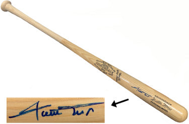 Willie Mays signed Adirondack 302 Blonde Name Engraved Bat- JSA LOA #Z98449 (NY/San Francisco Giants) PSM-Powers Sports Memorabilia