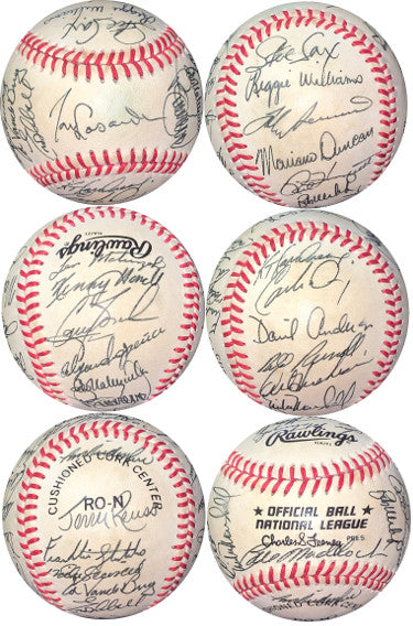 1986 Los Angeles Dodgers Team Signed Official RONL Baseball/Feeney JSA LOA- Tommy Lasorda/Orel Hershiser/Bob Welch PSM-Powers Sports Memorabilia