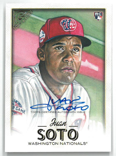 Juan Soto signed Washington Nationals 2018 Topps Gallery Rookie Baseball Card (RC) #126 PSM-Powers Sports Memorabilia
