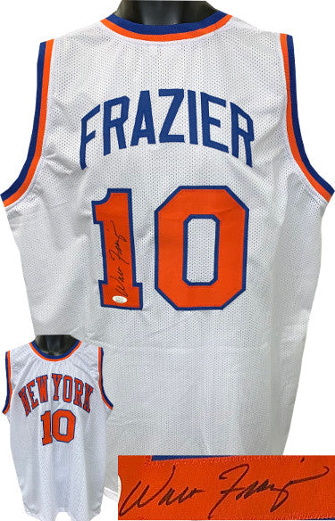 Walt Frazier signed White TB Custom Stitched Pro Basketball Jersey- JSA Witnessed Hologram PSM-Powers Sports Memorabilia