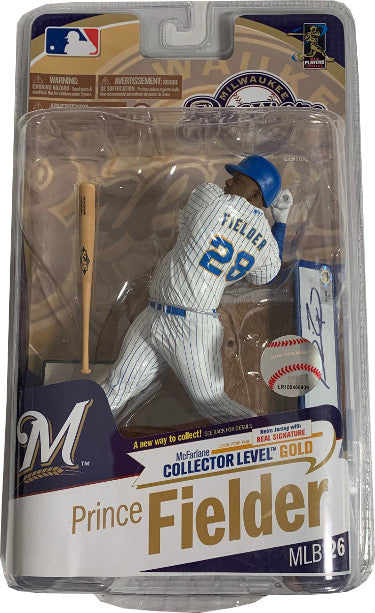 Prince Fielder signed McFarlane MLB 26 Signature Series Milwaukee Brewers Retro #276/400- MLB Holo #LH342429 (Action Figure/Toy) PSM-Powers Sports Memorabilia