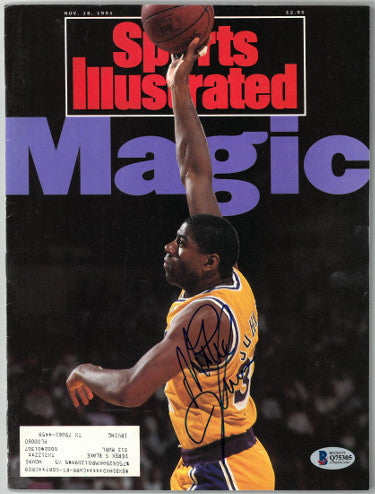 Magic Johnson signed Los Angeles Lakers Sports Illustrated Full Magazine 11/18/1991- Beckett/BAS Hologram #Q75305 PSM-Powers Sports Memorabilia