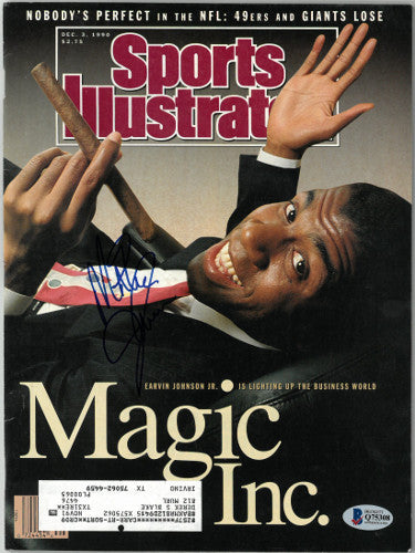 Magic Johnson signed Los Angeles Lakers Sports Illustrated Full Magazine 12/3/1990- Beckett/BAS Hologram #Q75308 PSM-Powers Sports Memorabilia