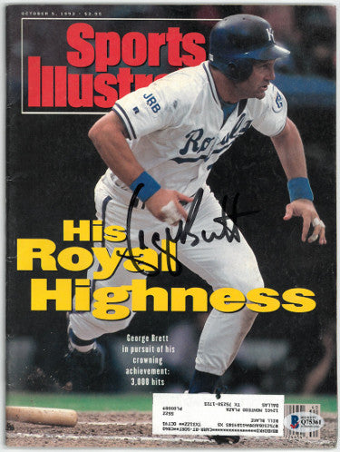 George Brett signed Kansas City Royals Sports Illustrated Full Magazine 10/5/1992- Beckett/BAS Hologram #Q75361 PSM-Powers Sports Memorabilia