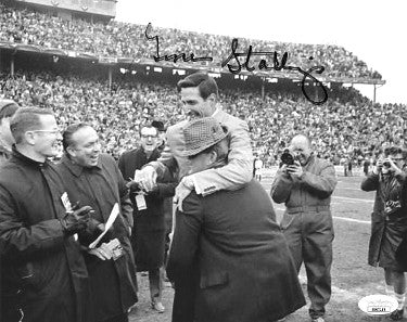 Gene Stallings signed 1967 Texas A&M Aggies SWC Champs B&W 8x10 Photo- JSA Hologram #EE63189 (win over Bear Bryant) PSM-Powers Sports Memorabilia