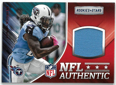 Derrick Henry Tennessee Titans 2017 Panini Rookies & Stars Game Worn Material Football Card #13 PSM-Powers Sports Memorabilia