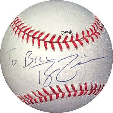 Ryan Zimmerman signed Rawlings Official Major League Baseball To Bill- JSA Hologram #HH18385 (Washington Nationals) PSM-Powers Sports Memorabilia