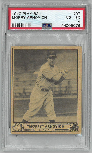 Morry Arnovich 1940 Play Ball Baseball Card #97- PSA Graded 4 Very Good-Excellent (Philadelphia Phillies) PSM-Powers Sports Memorabilia