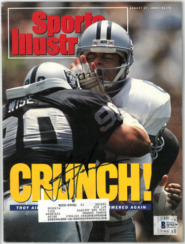 Troy Aikman signed Sports Illustrated Full Magazine 8/27/1990- Beckett/BAS #Q75279 (Dallas Cowboys) PSM-Powers Sports Memorabilia