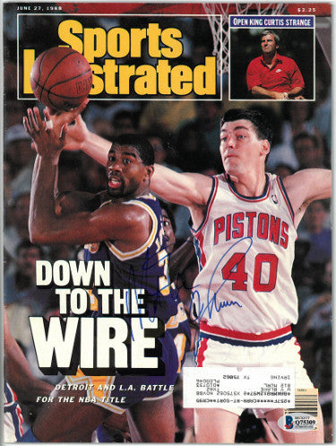 Magic Johnson signed Sports Illustrated Full Magazine 6/27/1988- Beckett/BAS #Q75309 (Los Angeles Lakers) PSM-Powers Sports Memorabilia