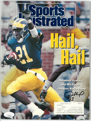 Desmond Howard signed Sports Illustrated Full Magazine 9/23/1991- JSA #EE63223 (Heisman/Michigan Wolverines) PSM-Powers Sports Memorabilia