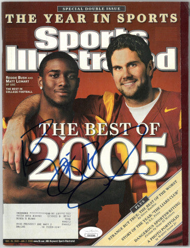 Reggie Bush signed Sports Illustrated Full Magazine 12/26/2005- JSA #EE63365 (USC Trojans w/ Matt Leinart) PSM-Powers Sports Memorabilia