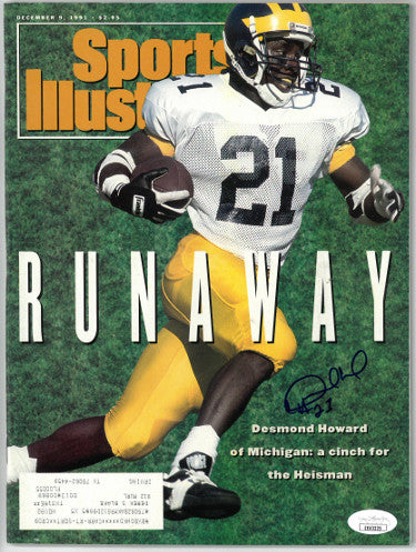 Desmond Howard signed Sports Illustrated Full Magazine 12/9/1991- JSA #EE63225 (Heisman/Michigan Wolverines) PSM-Powers Sports Memorabilia