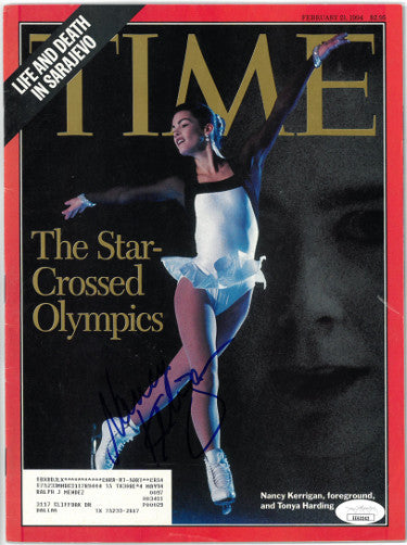 Nancy Kerrigan signed Time Full Magazine 2/21/1994- JSA #EE63242 (Olympics w/ Tonya Harding) PSM-Powers Sports Memorabilia