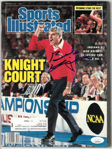 Bobby/Bob Knight signed Sports Illustrated Full Magazine 3/23/1987 minor cover wear- JSA #EE63258 (Indiana Hoosiers) PSM-Powers Sports Memorabilia