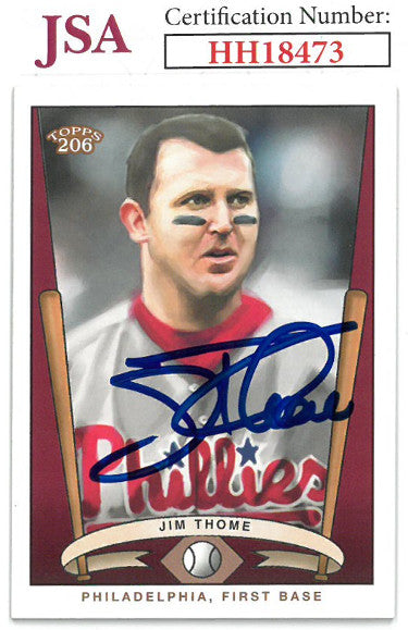 Jim Thome signed 2003 Topps 206 Baseball Card #T206-12- JSA #HH18473 (Philadelphia Phillies) PSM-Powers Sports Memorabilia